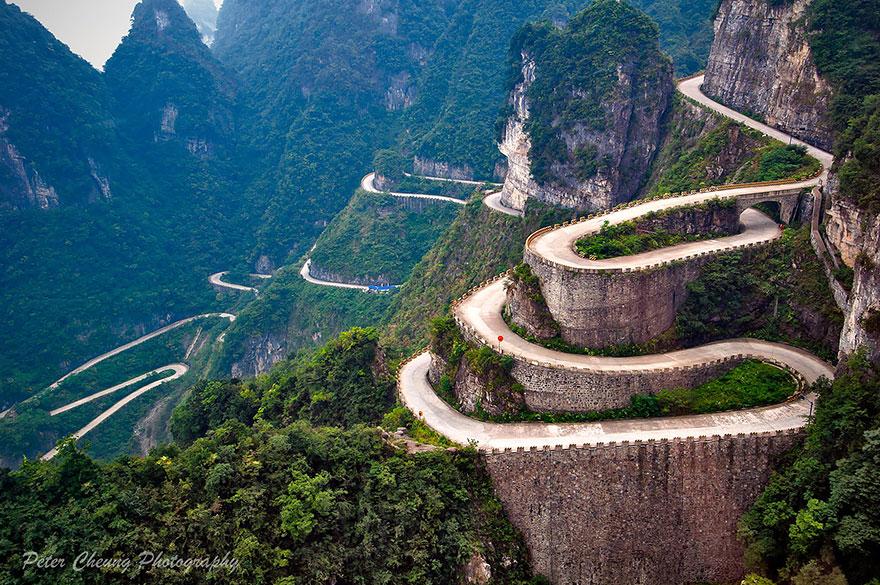 фото серпантина Китай
