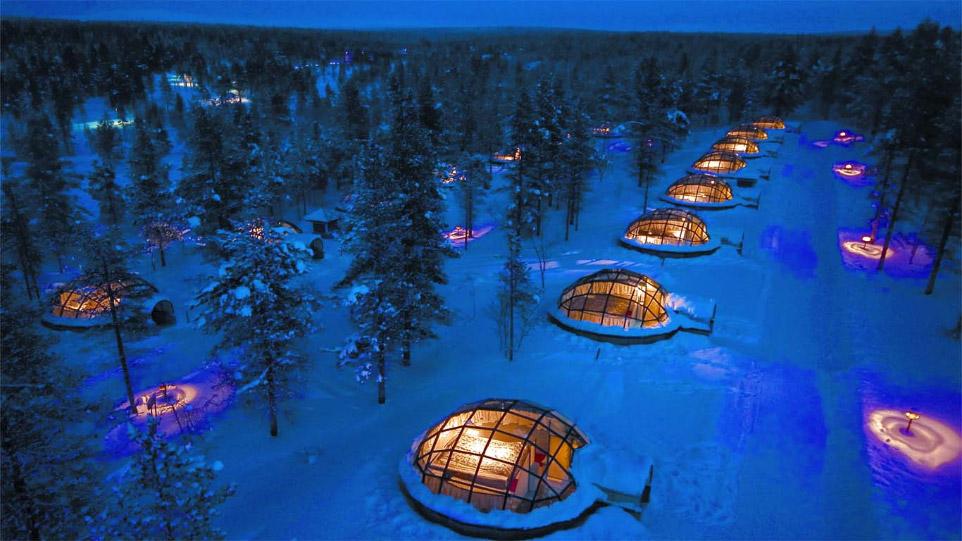 Kakslauttanen в Финляндии