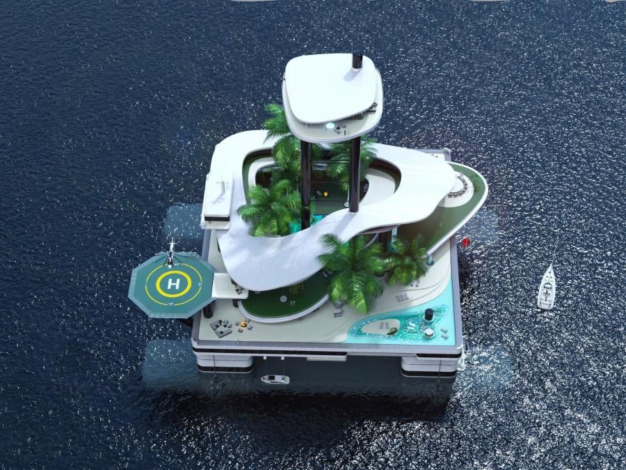 плавающий остров корабль